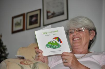 glyns-with-frog-book