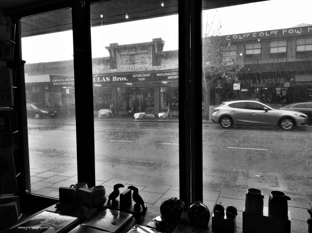 downpour outside bookshop watermark