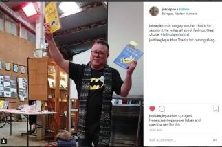 Josh at telling tales 2018