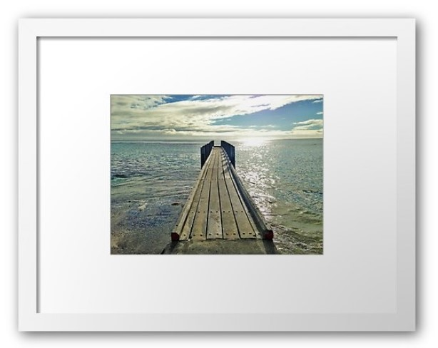 Jetty Dreaming as framed